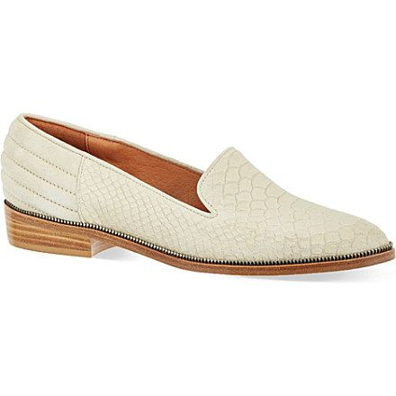 1ca381977d THE KOOPLES Faux python embossed leather slippers (Beige | more ...