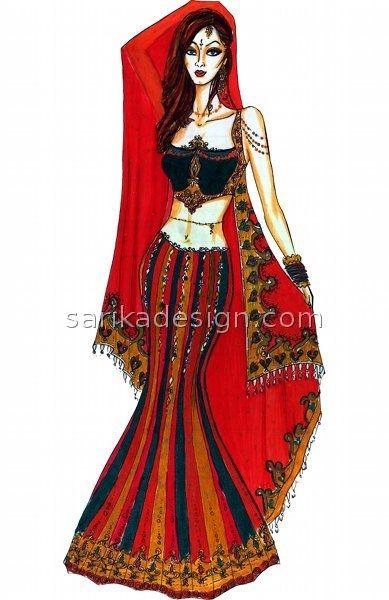 #fashion #sketch #indian