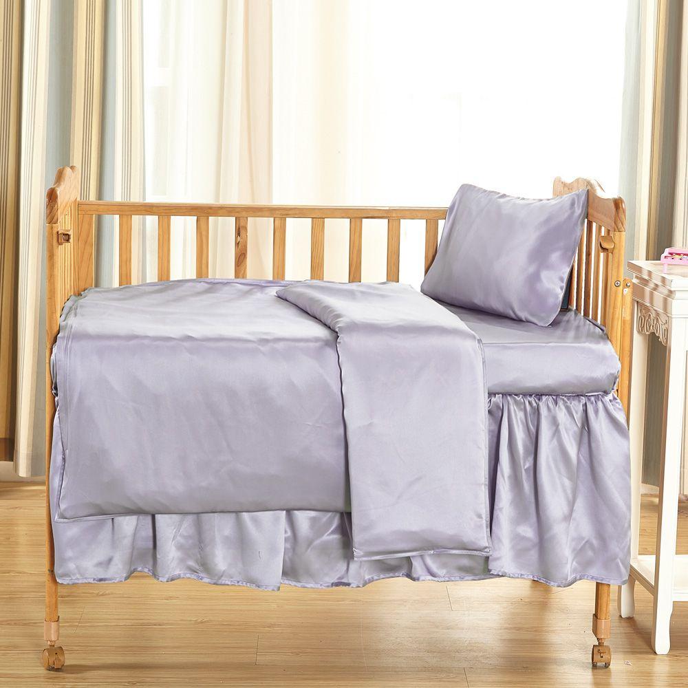 19 Momme Silk Crib Bedding Set