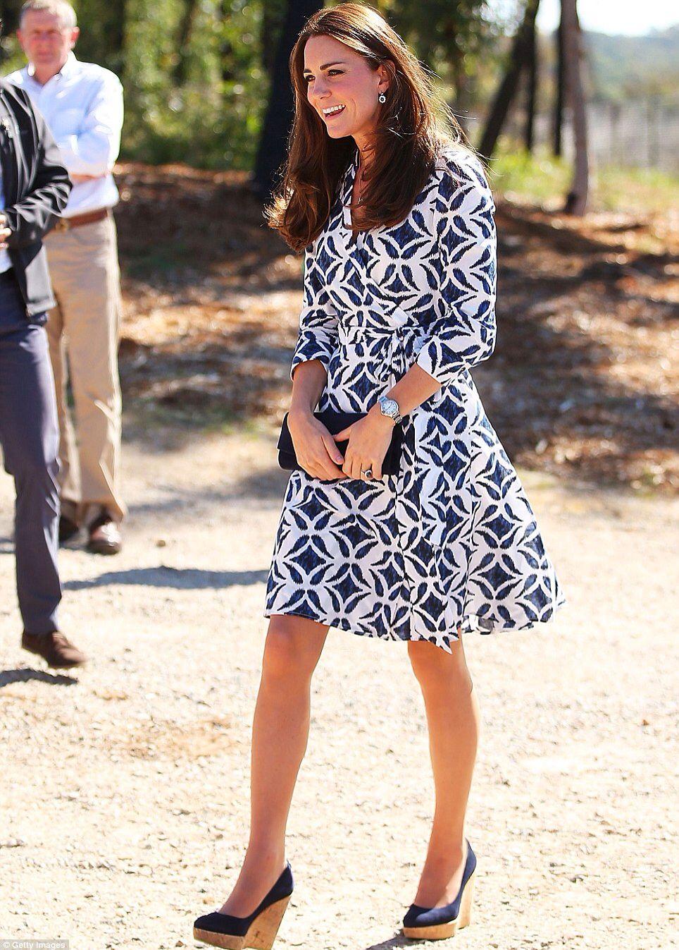 Princess Kate Middleton Style Diane Von Furstenberg Wrap Dress Kate Middleton Style