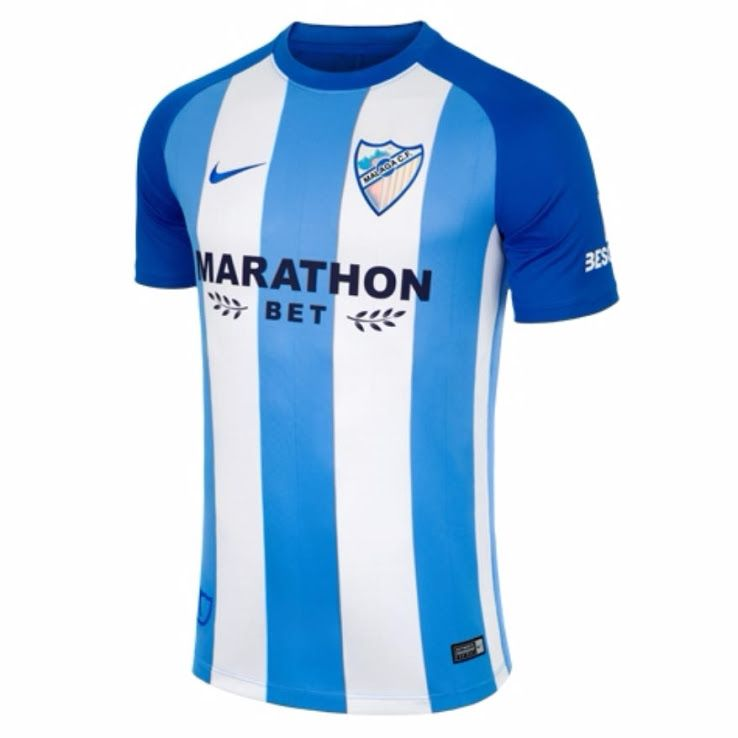 993faf0a233 Malaga 17-18 Home Kit Released - Footy Headlines