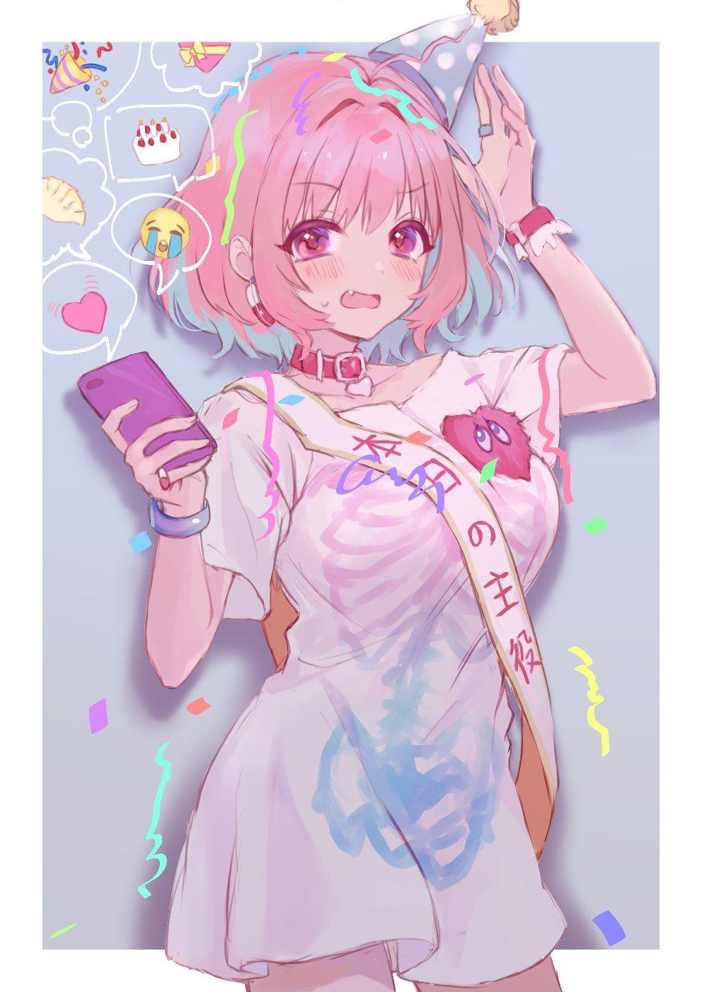 あのあ on twitter かわいいアニメガール アニメの女の子 ピンク アニメの女の子
