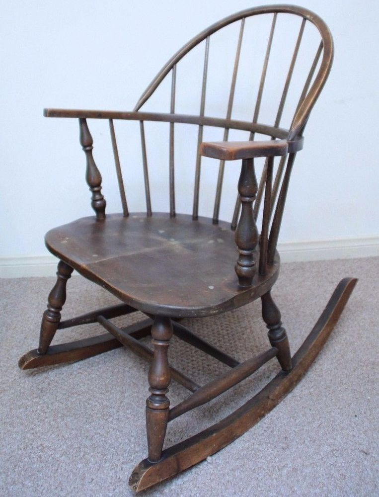 1900's Antique Heywood Wakefield Rocking Chair Wood Spindle Windsor  Furniture #MissionArtsCrafts #haywoodwakefield - 1900's Antique Heywood Wakefield Rocking Chair Wood Spindle Windsor