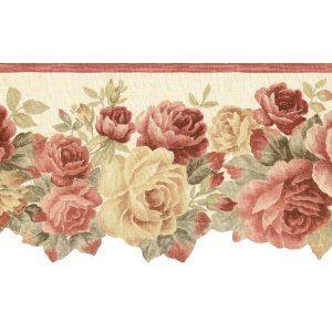 Waverly Rose Wallpaper rose wallpaper border Rose