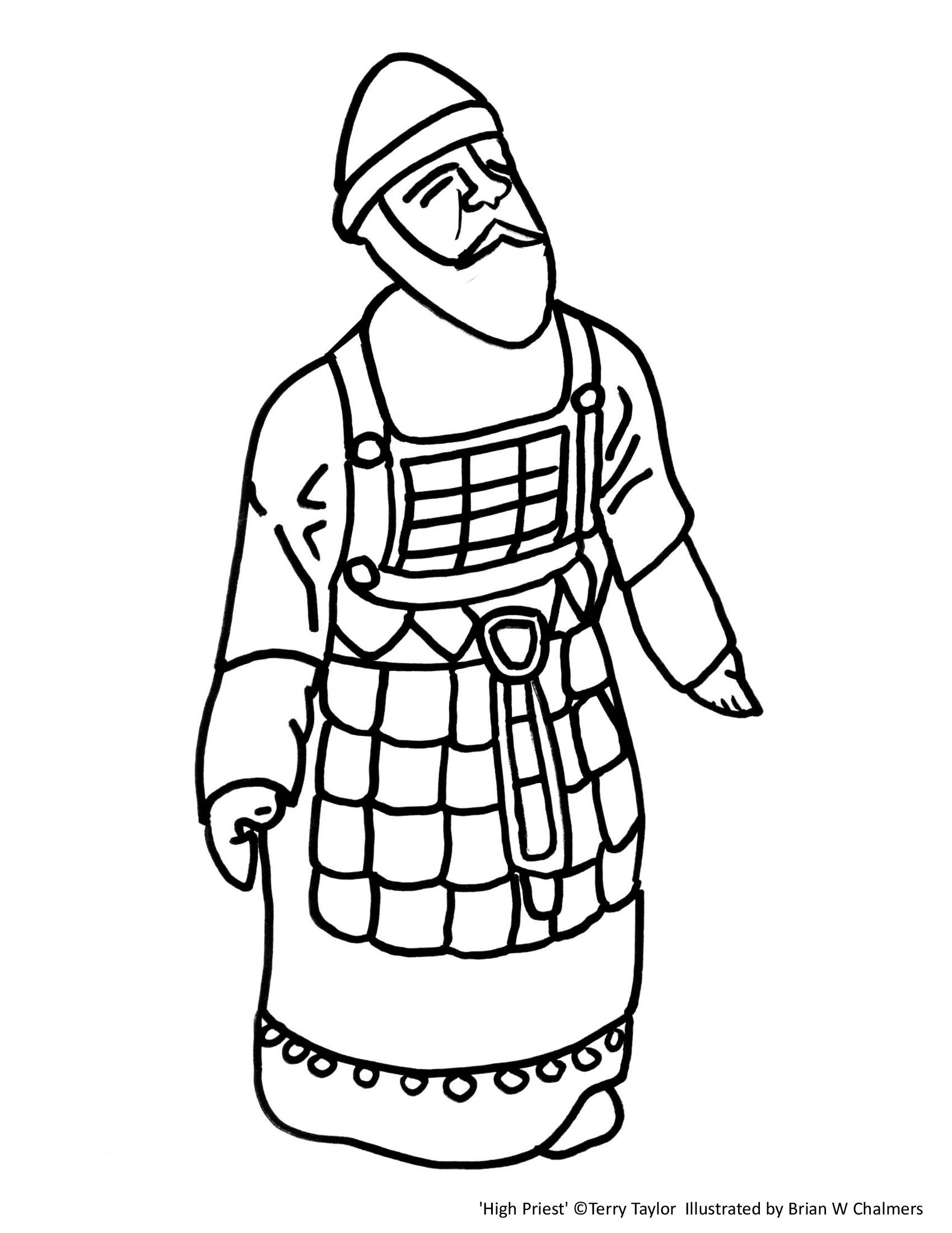 High Priest Coloring Page Catholic Coloring Coloring Pages Biblical Priest