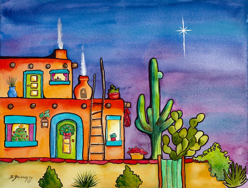 Sherry Darrah......Good for me to look at when doing cactus! | Arte ...