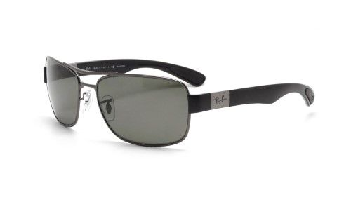 67330bb1ea5dfa Ray-Ban 0RB3522 004 9A 64 Gunmetal Polar Green Active Lifestyle Sunglasses  - Bundled Item with Cleaning Kit