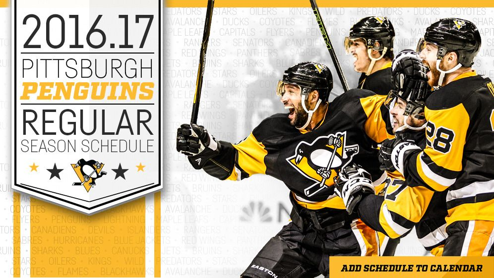picture regarding Pittsburgh Penguins Printable Schedule identified as Agenda Downloads - Pittsburgh Penguins - Agenda