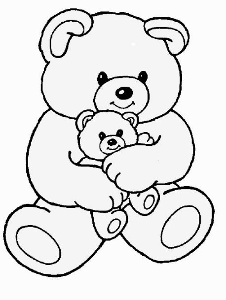 This Page Contains Birthday Teddy Bear With Heart Coloring Page Preschoolers Toddlers And Kids Love To Take Coloring Pages Of Teddy Bear To The Picnic