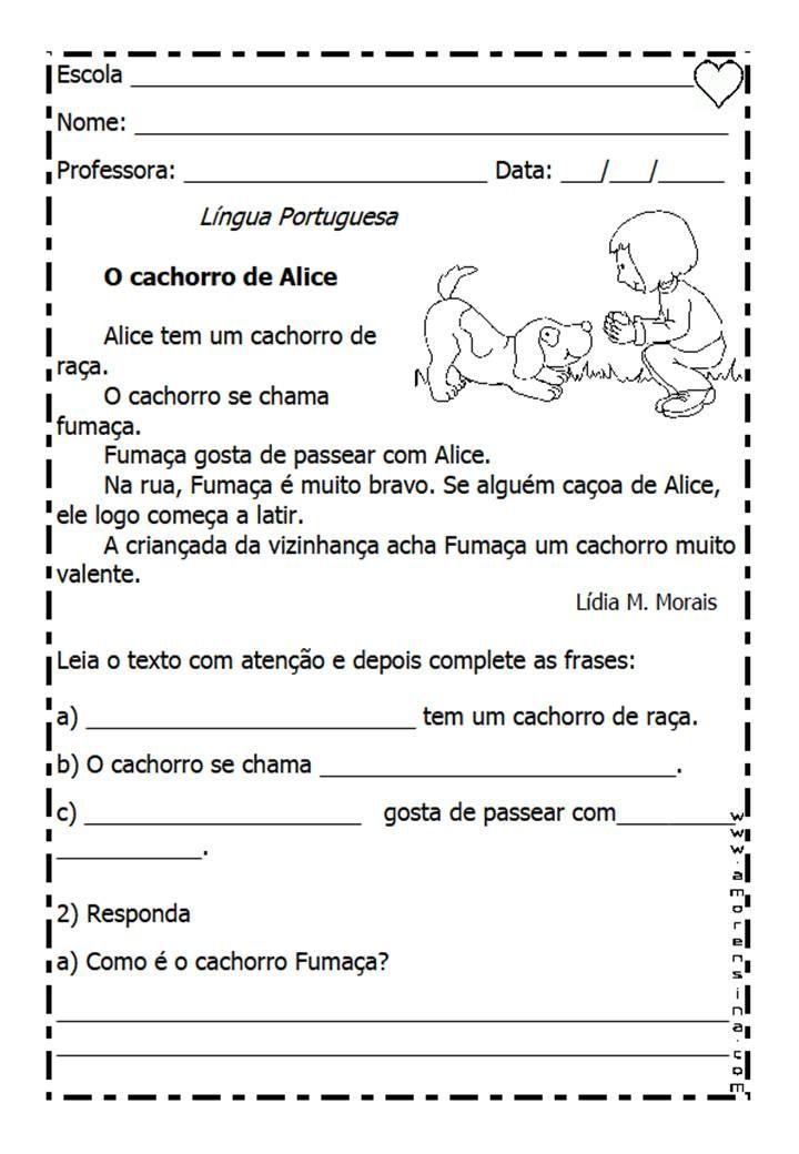 Famosos Educar X: Textos para interpretação 2° ano - Ensino fundamental  MD57
