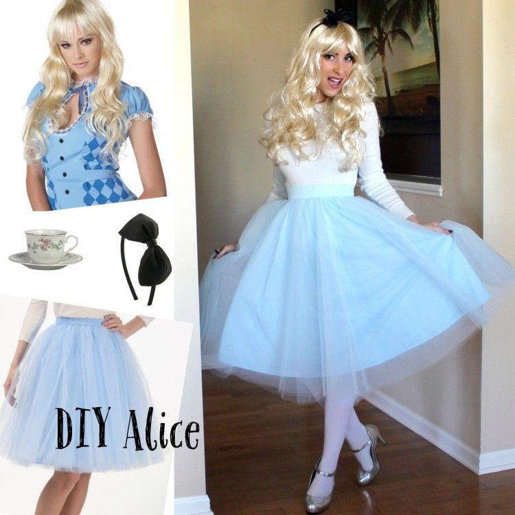 diy alice in wonderland costume diy disneycostume diy pinterest wonderland costumes. Black Bedroom Furniture Sets. Home Design Ideas