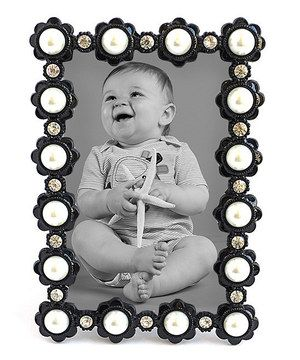 This Black & White Jeweled Photo Frame by Azzure Home is perfect! #zulilyfinds
