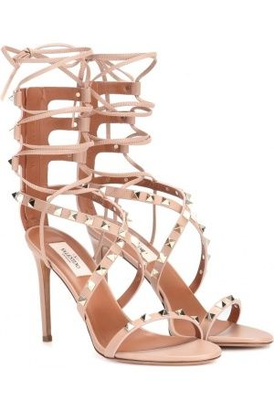 Women's sandals & flip-flops - Valentino Rockstud Leather Sandals