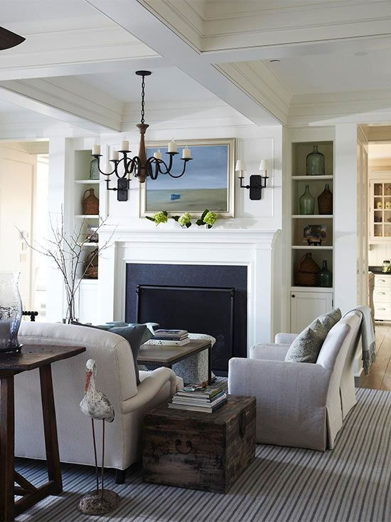 How To Arrange A Living Room With Two Entrances Blue Couch Living Room Living Room Designs Living Room Inspiration