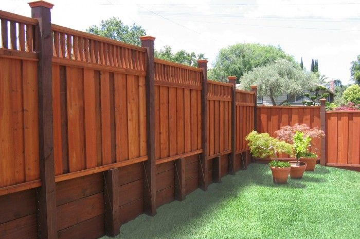 Redwood Fences Borgfence Com In 2020 Backyard Fences Redwood Fence Patio Cover Installation