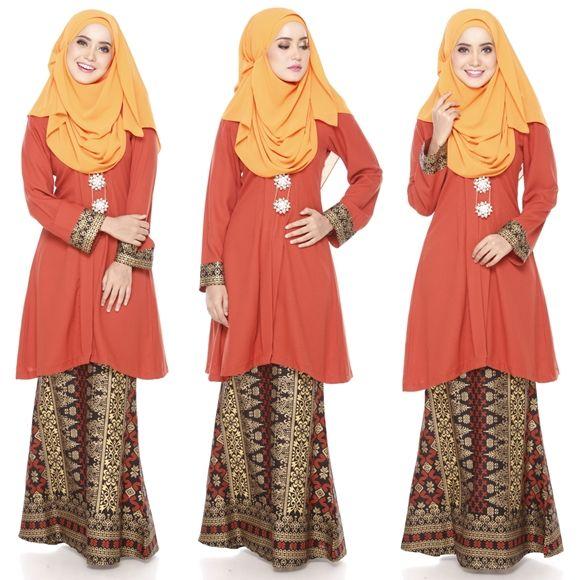 Baju Kurung Moden Kain Songket Fesyen Trend Terkini Modern Kurung