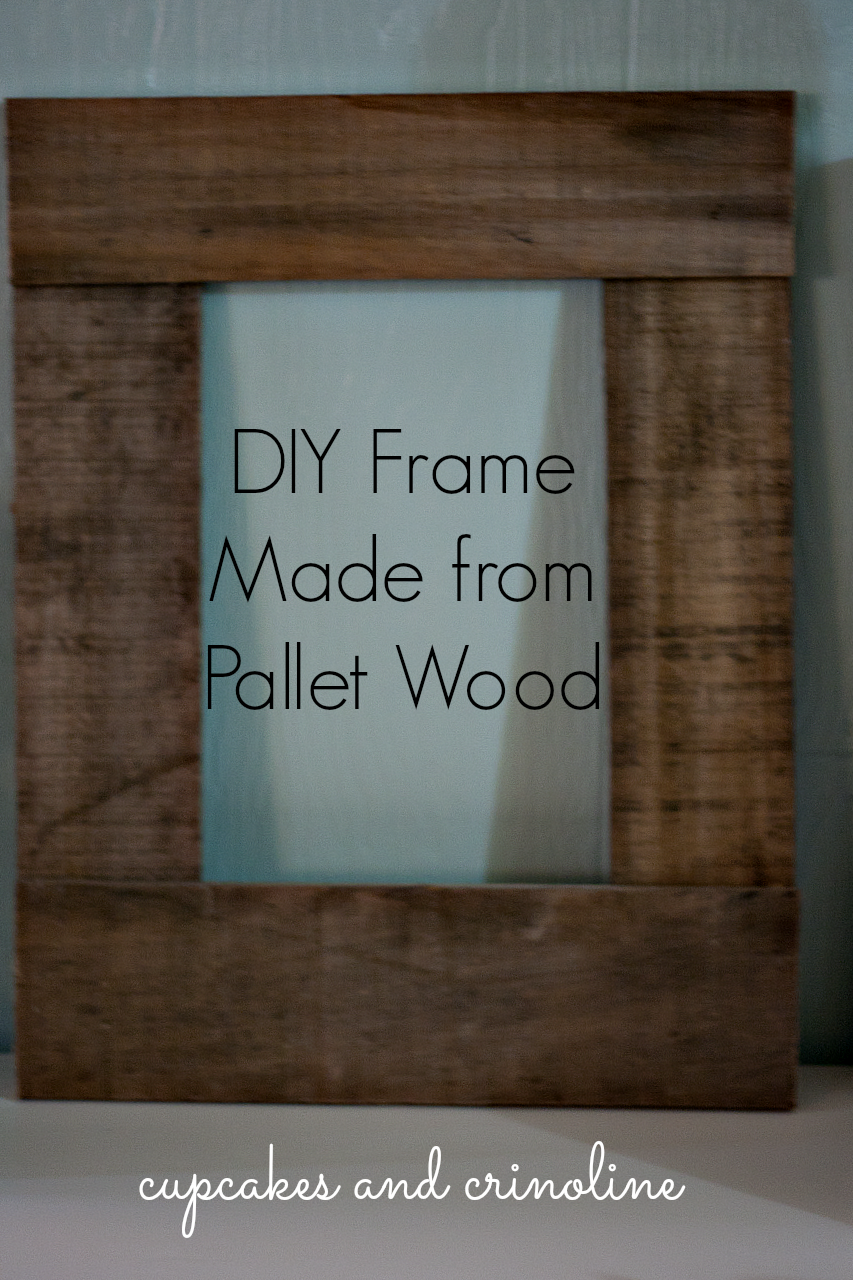 DIY Pallet Frame made from salvaged pallet wood at ...