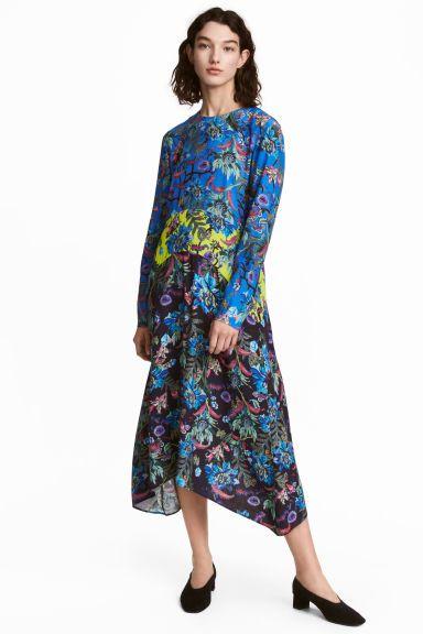 c878264875edb7 Blauwe bloemen jurk