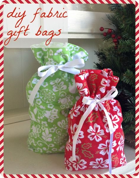 How To Make Your Own Fabric Gift Bags Sewing Fabric