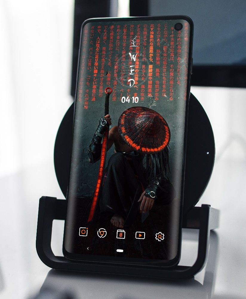 Cyber Samurai android homescreen setup in 2020