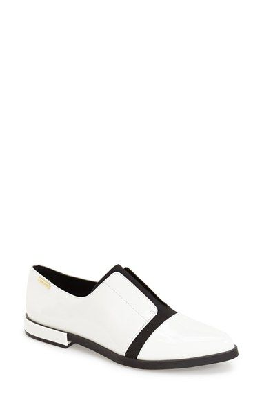 buy cheap prices Calvin Klein Patent Leather Pointed-Toe Oxfords discount best seller buy cheap low shipping fee IG8mhxV