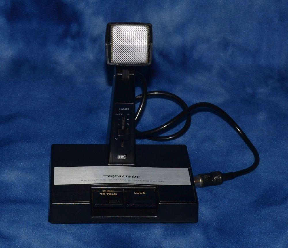 Realistic CB Ham Radio Desk Amplified Microphone | Amazon