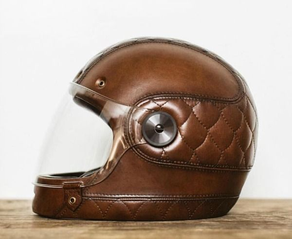 Galerry hot sell men vintage leather motorcycle helmet open face