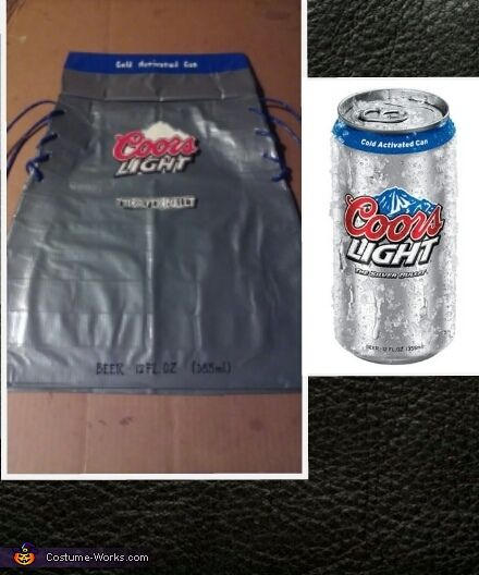 coors light duct tape dress halloween costume contest at