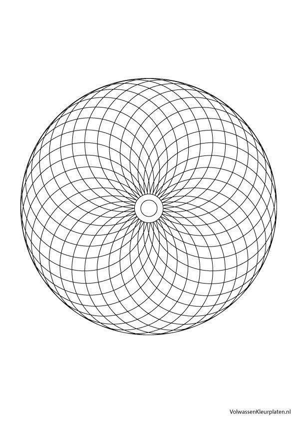 Volwassen Kleurplaten Mandala.Volwassen Kleurplaat Mandala 3 Volwassen Kleurplaten