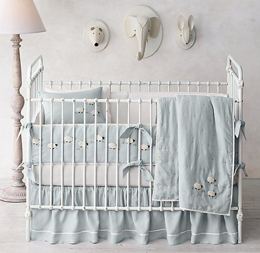 Hand Knotted Sheep Nursery Bedding Collection Sheep Nursery