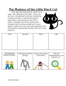 Story Sequencing Activity- The Mystery of the Little Black