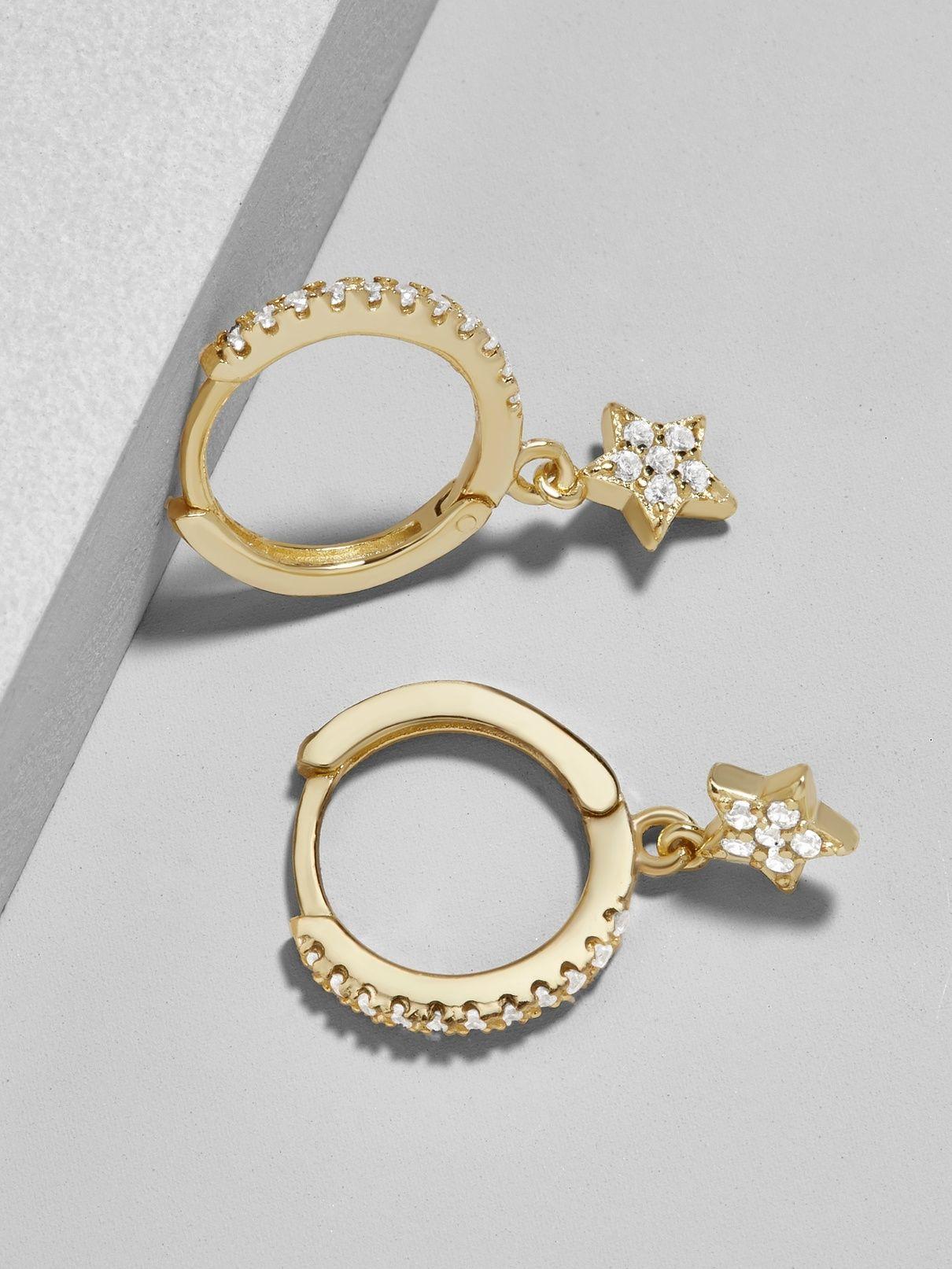 351a9c2fb Stella 18K Gold Plated Huggie Hoop Earrings | Things I want as gifts ...