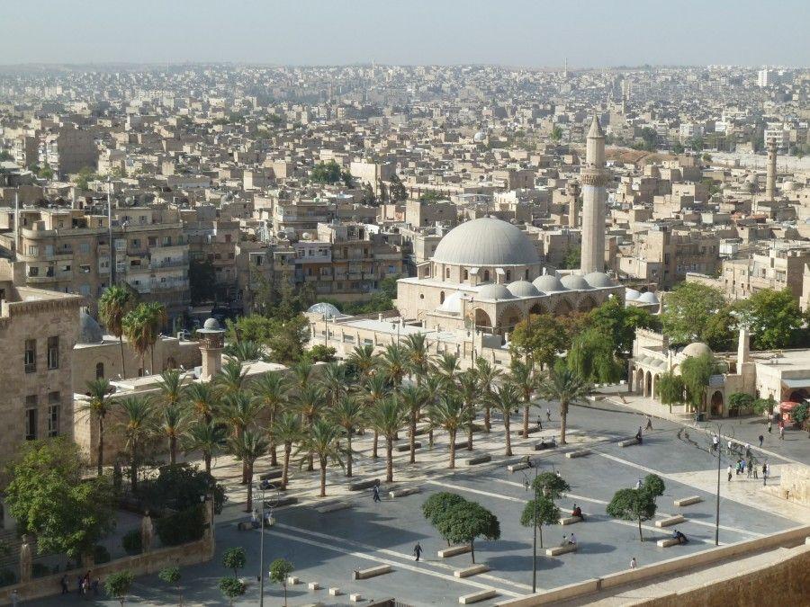 Halab, pohľad na mesto z citadely