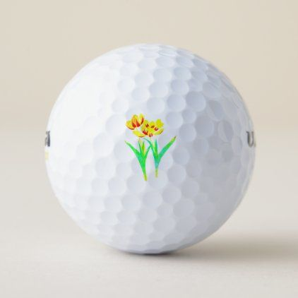Tulips - Edited Golf Balls