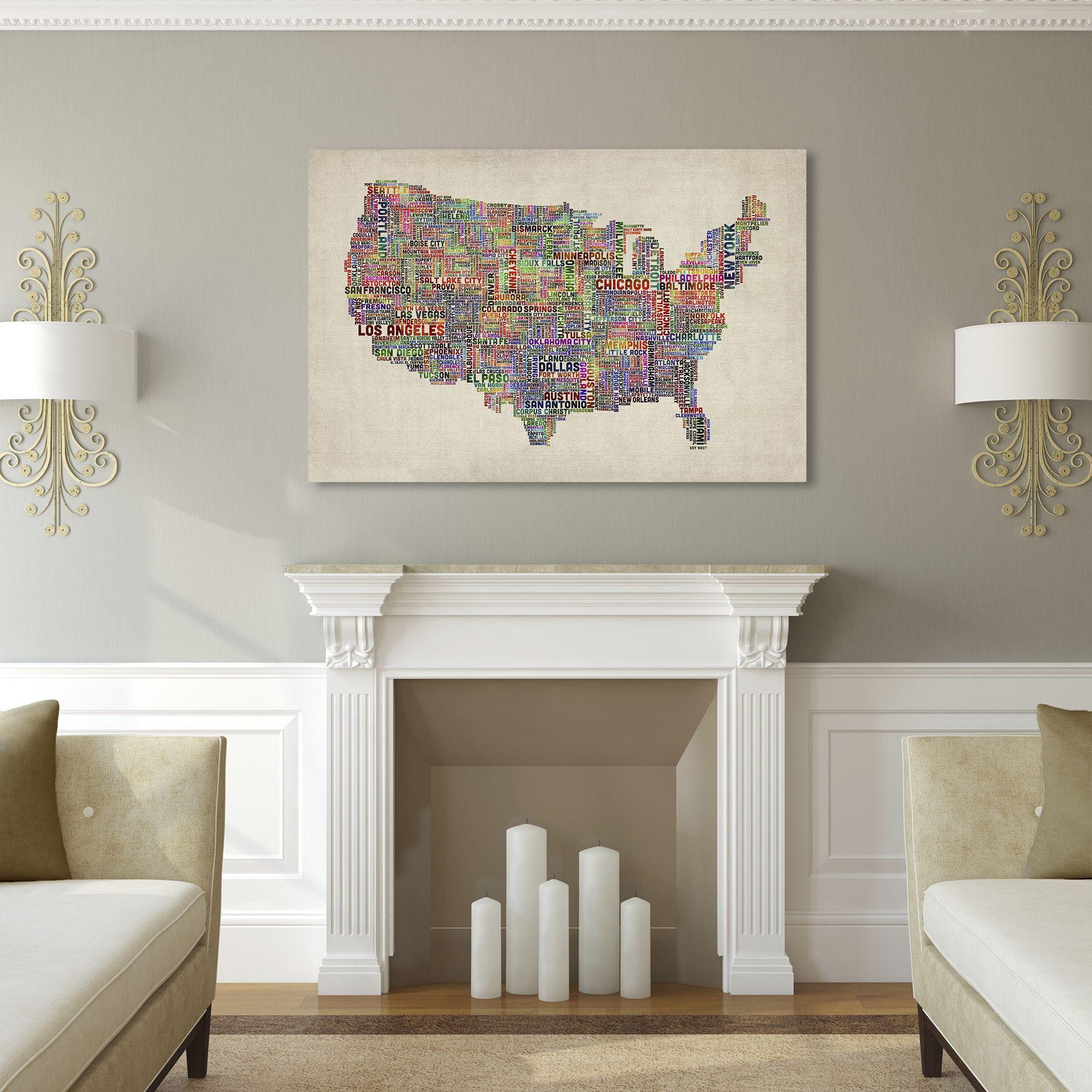Michael tompsett us cities text map vi canvas art multi 30 in michael tompsett us cities text map vi canvas art multi 30 in gumiabroncs Gallery
