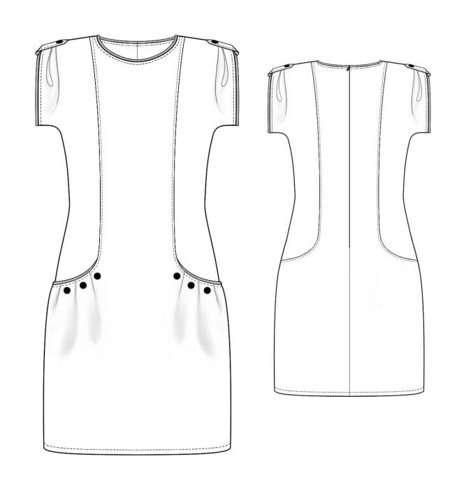 Dress - Sewing Pattern #4026. Made-to-measure sewing pattern from ...