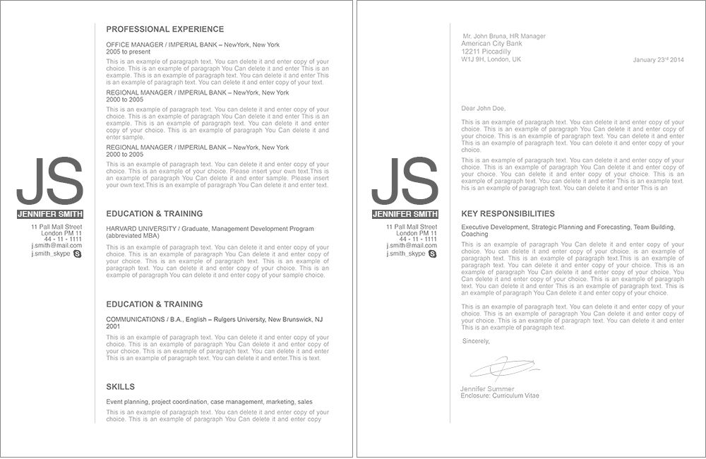 Resume Template - 110540 ResumeWay Organized Pinterest - Cv Example
