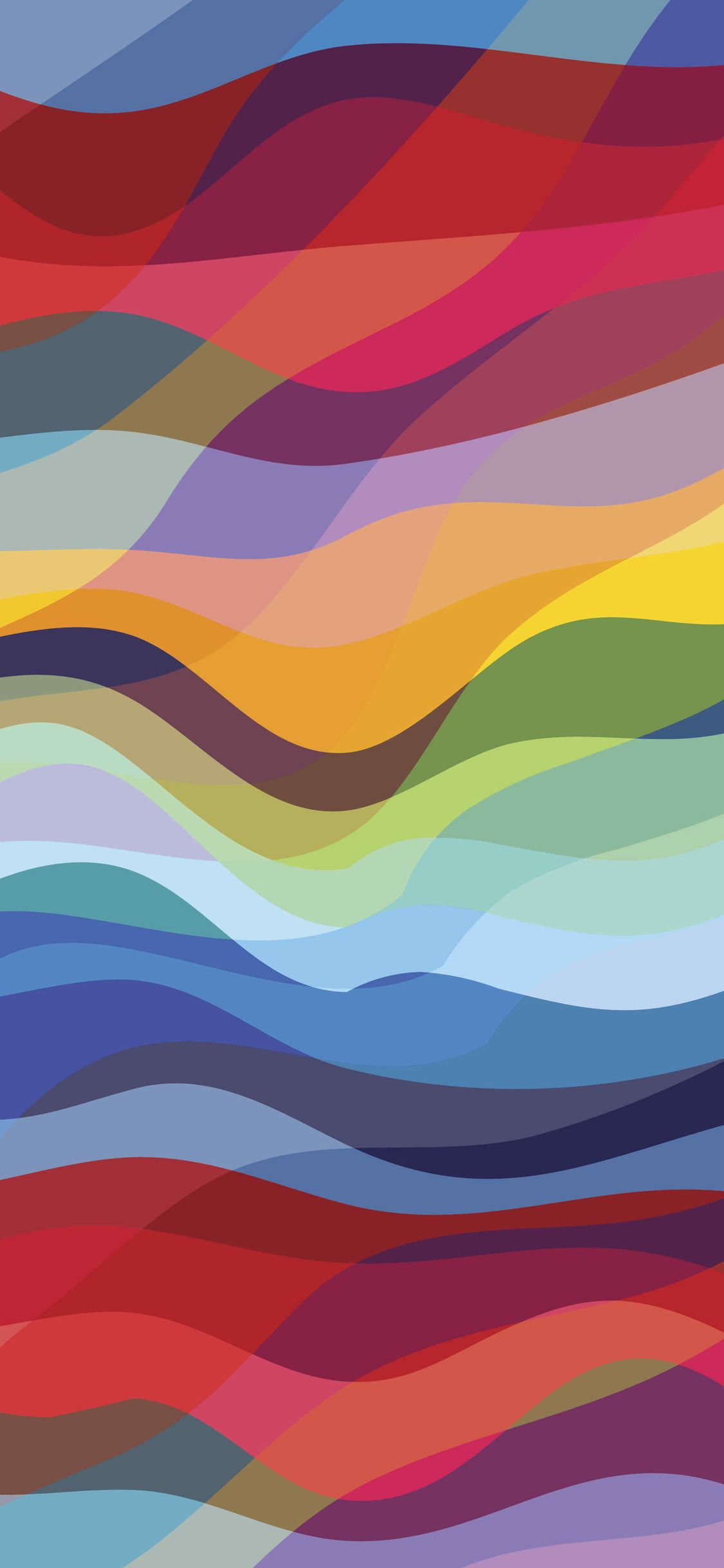 Waves Colorful iPhone X 4K Wallpaper