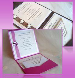 homemade wedding invitations | Kate Everett, Pawprint Designs Handmade Wedding Stationery email: kate ...
