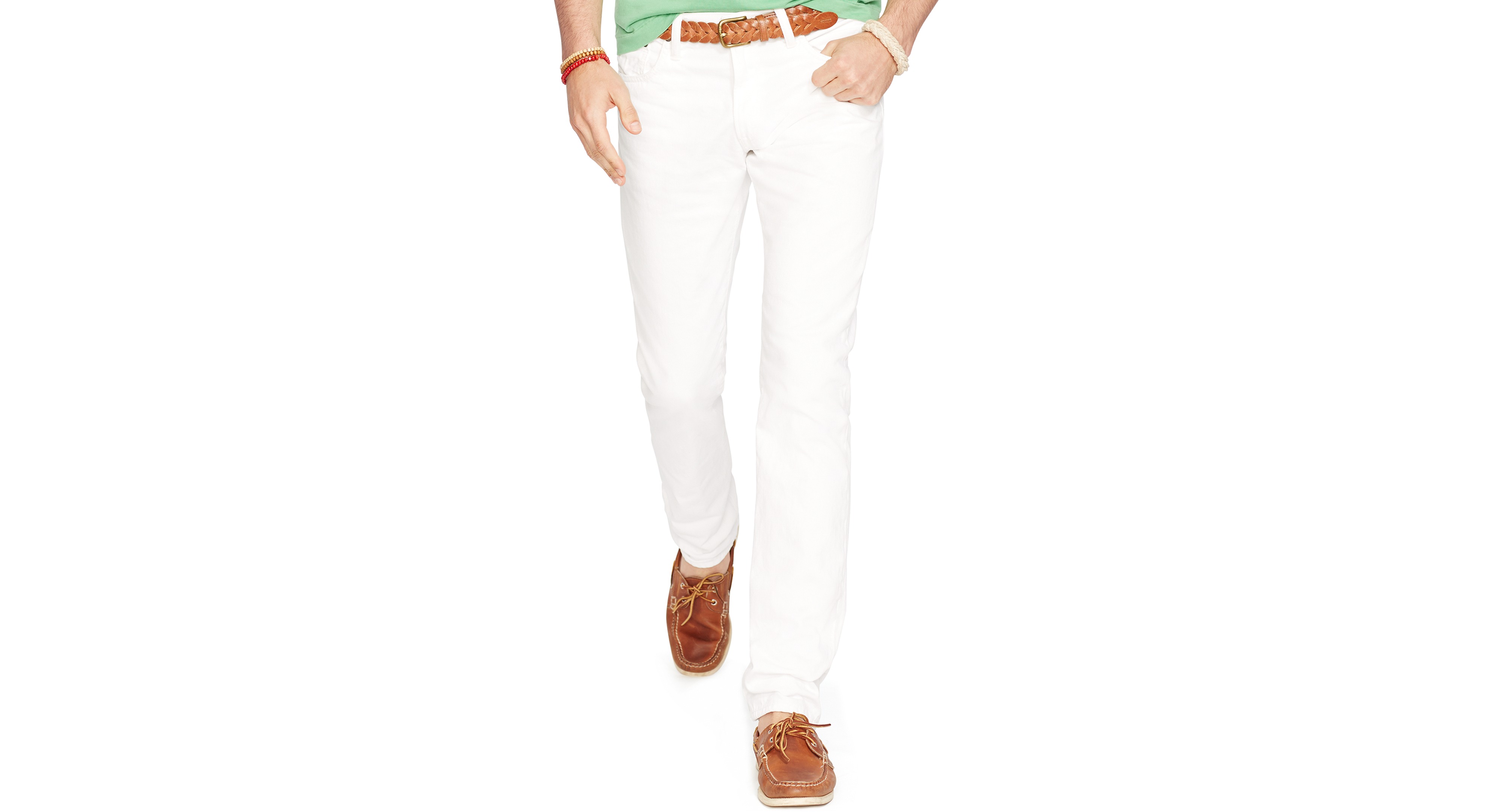 954392d5 Polo Ralph Lauren Varick Slim-Straight Hudson White Jeans | Products ...