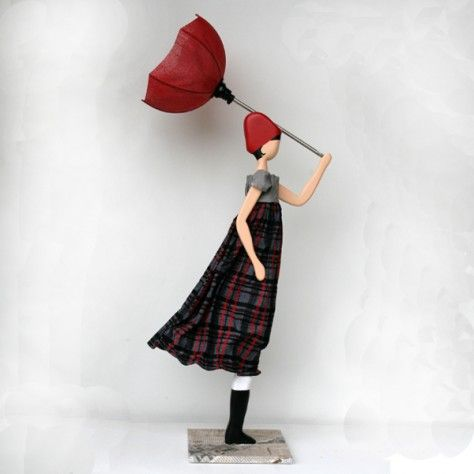 girls with lamp - Girl with an umbrella lamp from Greece Kebaby things girls