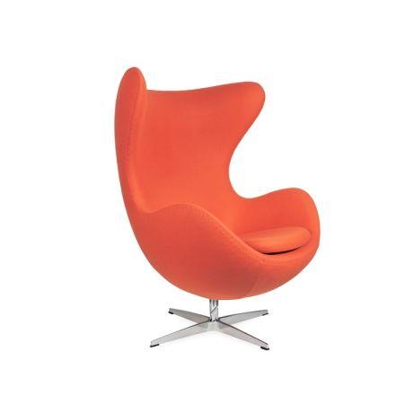 egg chair arne jacobsen replica premium wool orange https