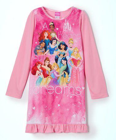 Another great find on #zulily! Disney Princess Pink Nightgown - Girls #zulilyfinds