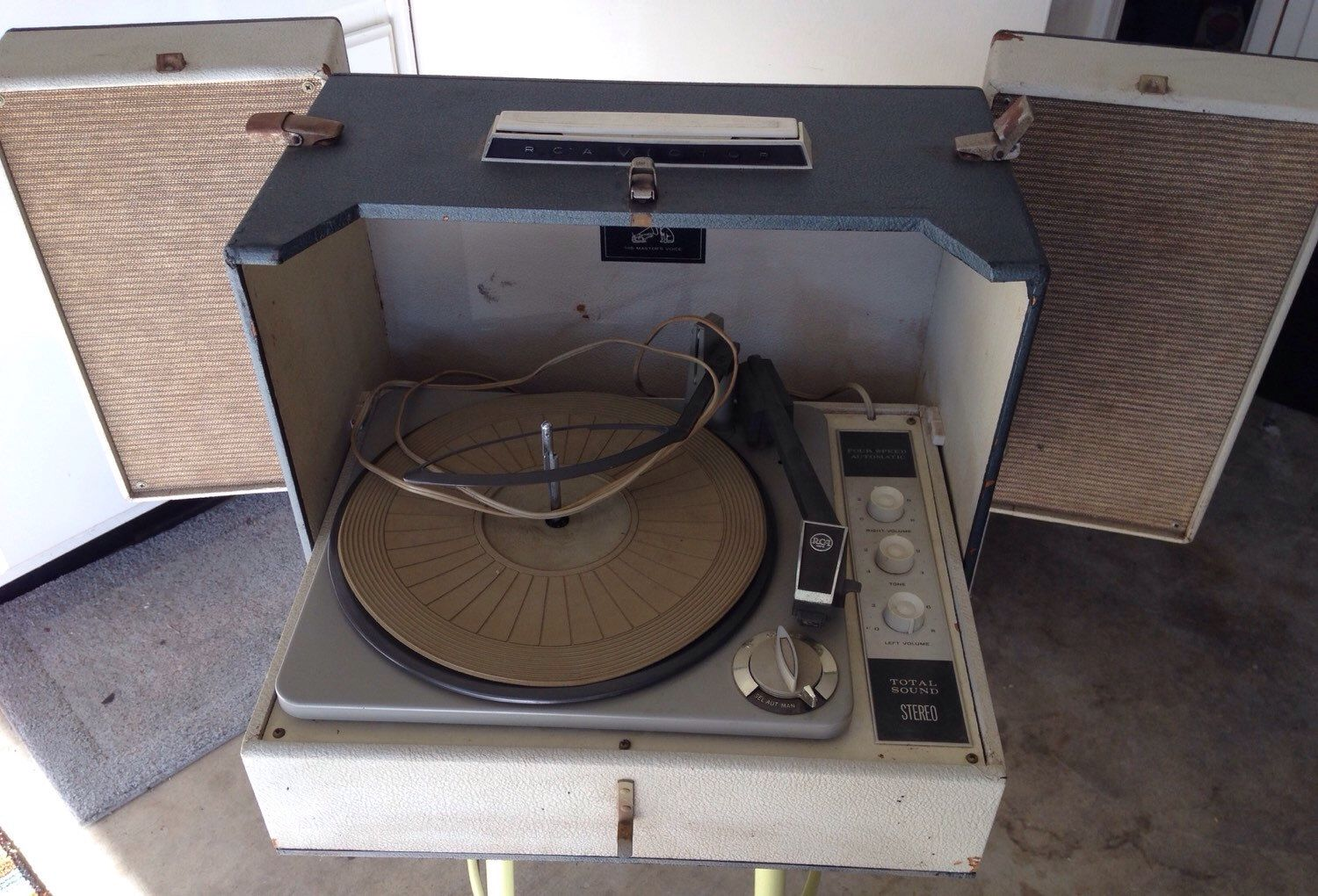 A personal favorite from my Etsy shop https://www.etsy.com/listing/251606868/1960s-rca-record-player