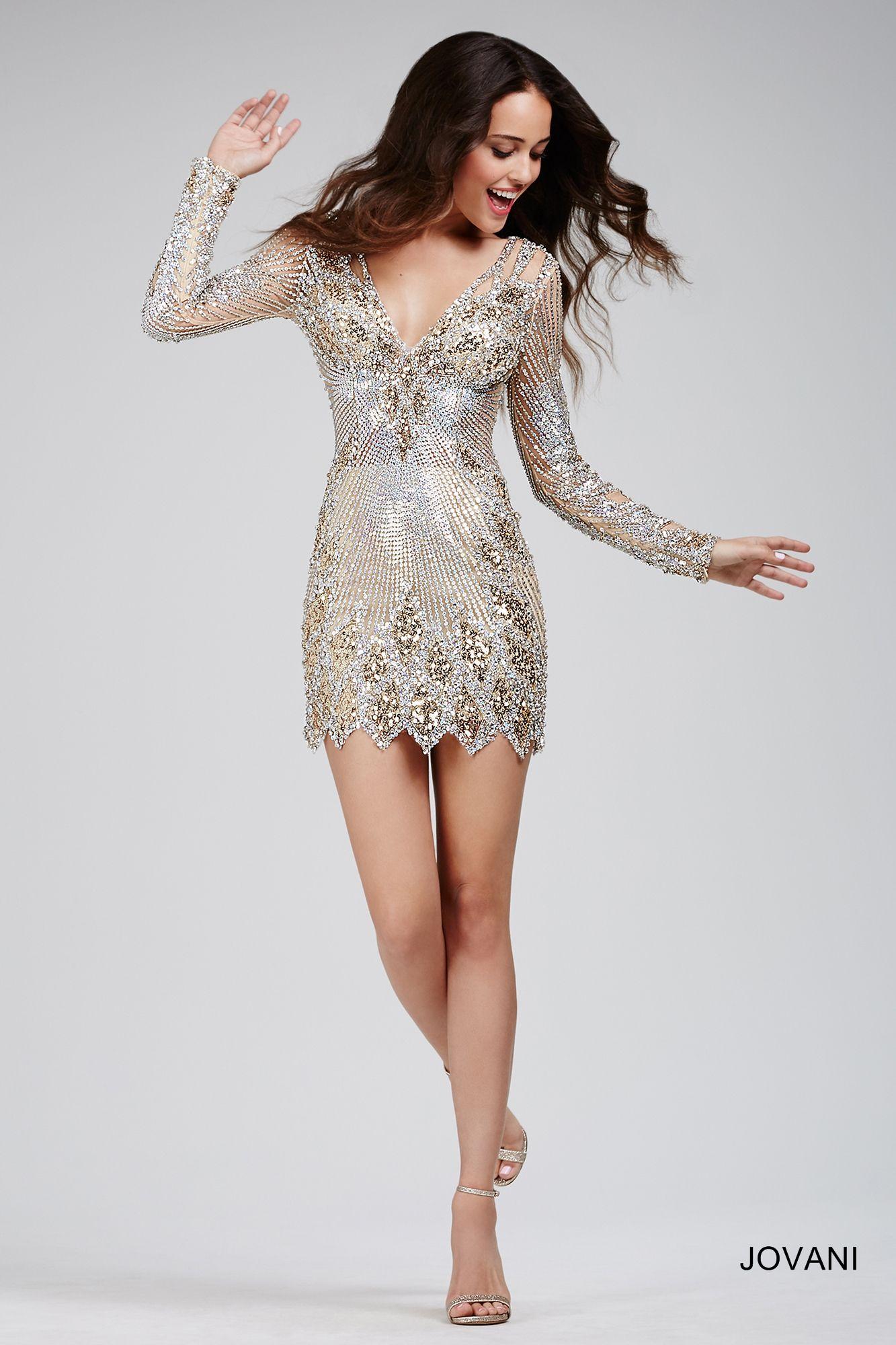 Long sleeve sequined dress dressed up pinterest dresses