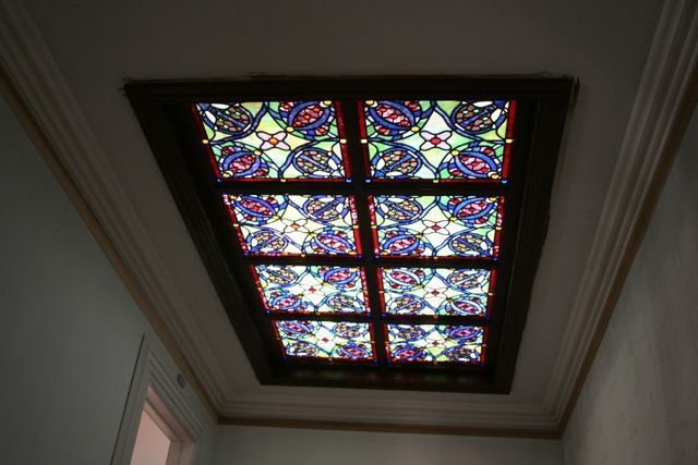 Custom Made Stained Gl Skylight Residential Crossfield