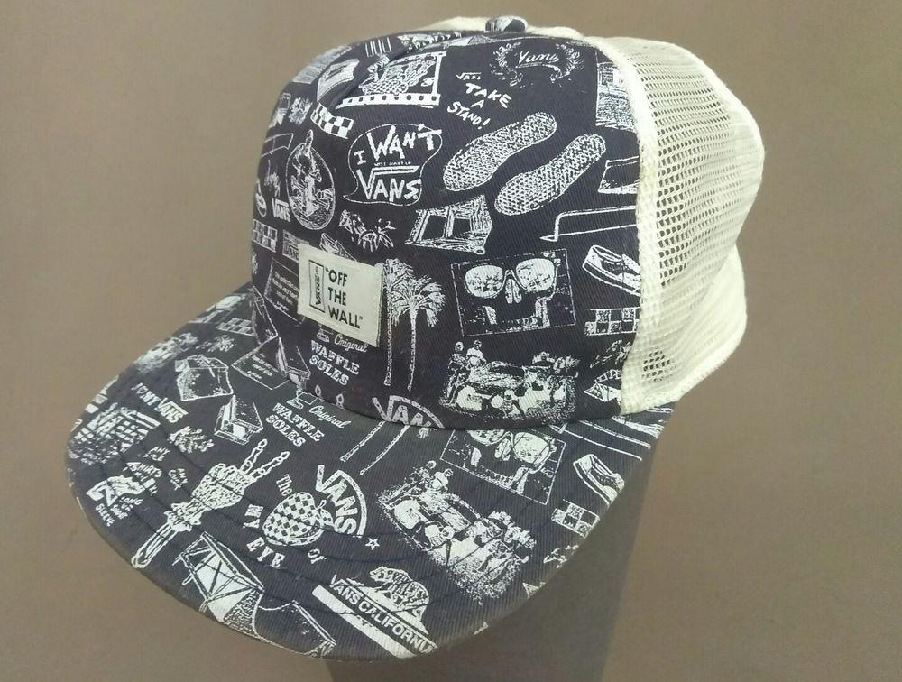 ae950537226 Vans Off The Wall Vintage Snap Back Mesh Trucker Hat