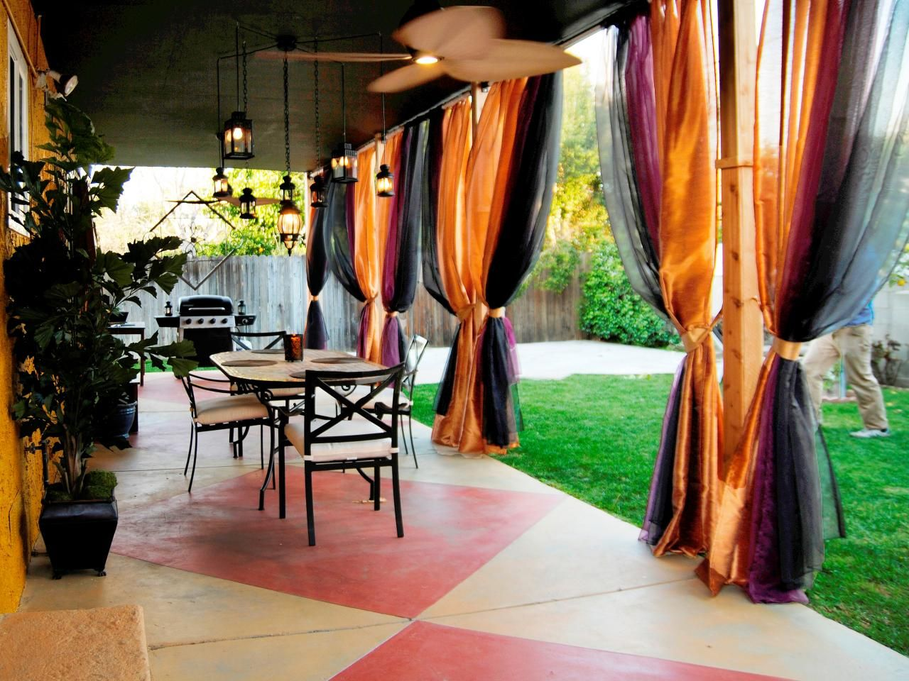 etch and stain a diamond pattern concrete patio concrete patios