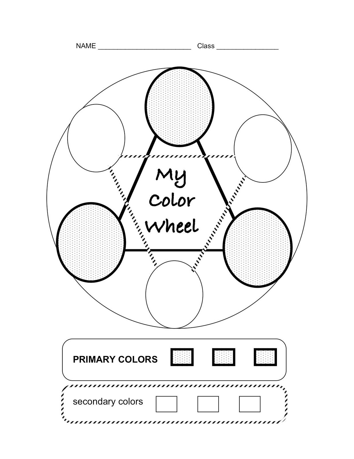 Primary And Secondary Colors Worksheet For Kindergarten