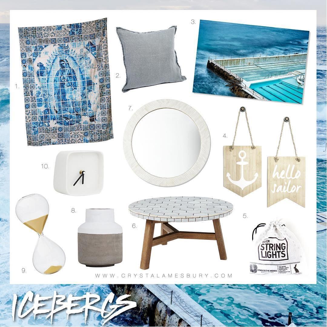 Icebergs Bondi Sea Ocean Homewares Decor Decoration Design